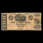 Canada, Union Bank, 2 dollars <br /> August 1, 1838