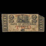 Canada, Bank of Montreal, 2 dollars <br /> May 1, 1849