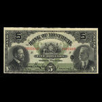 Canada, Bank of Montreal, 5 dollars <br /> November 3, 1914