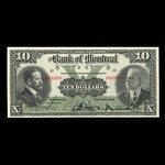 Canada, Bank of Montreal, 10 dollars <br /> November 3, 1914