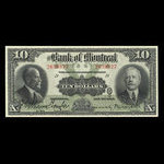 Canada, Bank of Montreal, 10 dollars <br /> January 2, 1923