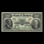 Canada, Bank of Montreal, 20 dollars <br /> January 2, 1923