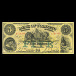 Canada, Bank of Toronto (The), 5 dollars <br /> February 1, 1923