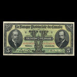 Canada, Provincial Bank of Canada, 5 dollars <br /> January 31, 1919