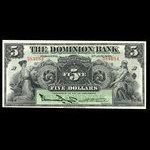 Canada, Dominion Bank, 5 dollars <br /> January 2, 1925