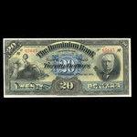 Canada, Dominion Bank, 20 dollars <br /> January 2, 1925
