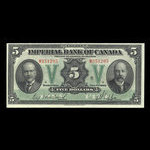 Canada, Imperial Bank of Canada, 5 dollars <br /> November 1, 1923