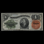 Canada, Dominion of Canada, 4 dollars <br /> May 1, 1882