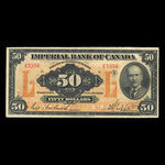 Canada, Imperial Bank of Canada, 50 dollars <br /> November 1, 1923