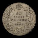 Canada, Edward VII, 50 cents <br /> 1908