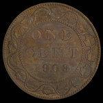 Canada, Edward VII, 1 cent <br /> 1908