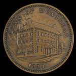 Canada, Bank of Montreal, 1/2 penny <br /> 1839