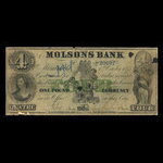 Canada, Molsons Bank, 4 dollars <br /> October 1, 1855