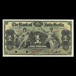 Jamaica, Bank of Nova Scotia, 1 pound <br /> January 2, 1900