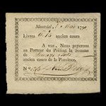 Canada, Dobie & Badgley, 15 sols <br /> May 1, 1790