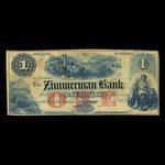 Canada, Zimmerman Bank, 1 dollar <br /> 1859