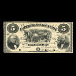 Canada, Imperial Bank of Canada, 5 dollars <br /> March 1, 1875