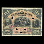 Canada, Imperial Bank of Canada, 100 dollars <br /> January 2, 1907