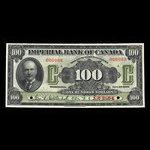 Canada, Imperial Bank of Canada, 100 dollars <br /> November 1, 1923