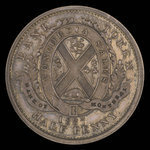 Canada, Bank of Montreal, 1/2 penny <br /> 1837