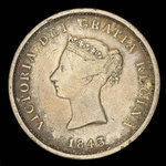 Canada, Province of New Brunswick, 1 penny <br /> 1843
