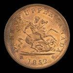 Canada, Bank of Upper Canada (York), 1 penny <br /> 1852