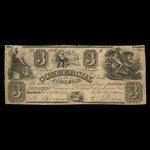 Canada, Commercial Bank of Fort Erie, 3 dollars <br /> December 9, 1854