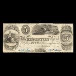 Canada, Kingston Bank, 5 dollars <br /> 1838