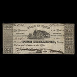 Canada, Cobourg Board of Police, 1 dollar <br /> November 29, 1848