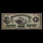 Canada, Dominion of Canada, 1 dollar <br /> July 1, 1870