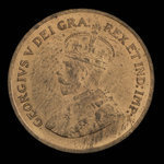 Canada, George V, 1 cent <br /> 1935