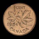 Canada, Elizabeth II, 1 cent <br /> 1954