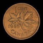 Canada, Elizabeth II, 1 cent <br /> 1955