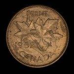 Canada, Elizabeth II, 1 cent <br /> 1962