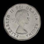 Canada, Elizabeth II, 5 cents <br /> 1953