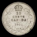 Canada, Edward VII, 10 cents <br /> 1902