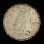 Canada, George VI, 10 cents <br /> 1950
