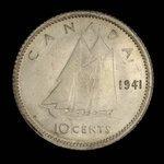Canada, George VI, 10 cents <br /> 1941