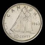 Canada, Elizabeth II, 10 cents <br /> 1963