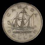 Canada, George VI, 1 dollar <br /> 1949