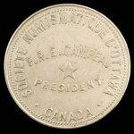 Canada, Numismatic Society of Ottawa, no denomination <br /> 1892
