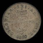 Great Britain, George IV, 1/8 dollar <br /> 1822