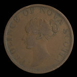 Canada, Province of Nova Scotia, 1/2 penny <br /> 1843