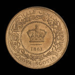 Canada, Province of Nova Scotia, 1/2 cent <br /> 1861
