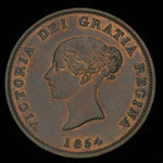 Canada, Province of New Brunswick, 1 penny <br /> 1854