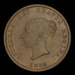 Canada, Province of New Brunswick, 1/2 penny <br /> 1854
