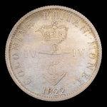 Great Britain, George IV, 1/4 dollar <br /> 1822