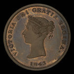 Canada, Province of New Brunswick, 1/2 penny <br /> 1843