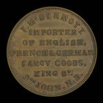 Canada, F. McDermott, no denomination <br /> 1855