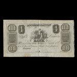 Canada, Accomodation Bank, 4 dollars <br /> 1837